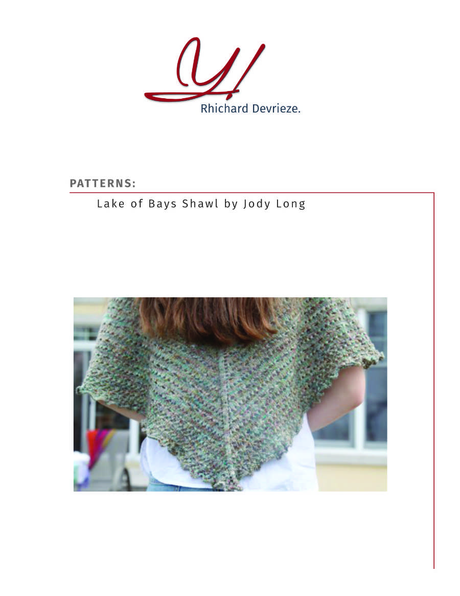 Pattern | LAKE OF BAYS SHAWL